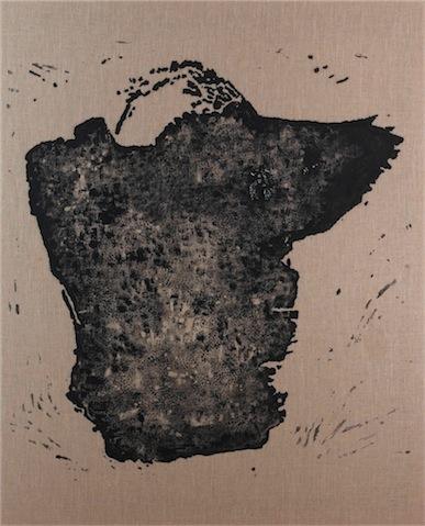 Daniel Schubert – Shap-h-ed-Form 2010 – egg tempera paint on canvas 150 x 120 cm