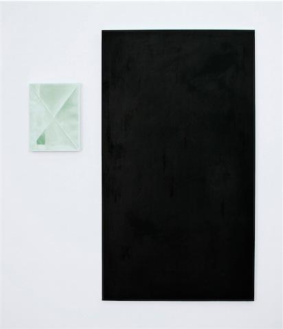 Daniel Schubert – untitled – Diptych – 2011 oil paint on canvas  40 x 30 cm egg tempera paint on canvas 160 x 90 cm
