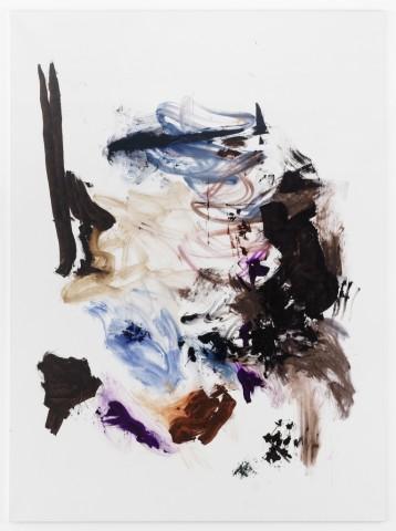 Daniel Schubert – untitled  2013 – offset ink, brushstick on canvas  210x155cm